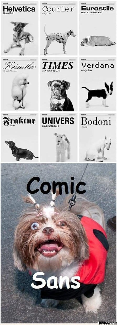 LOL - Dogs as fonts