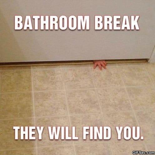 Meme bathroom break