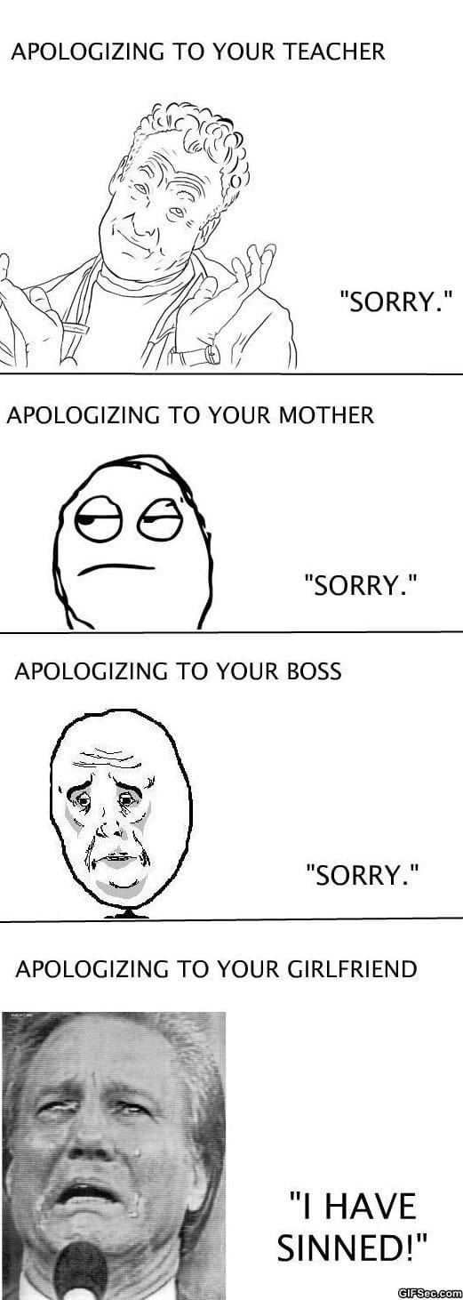 Funny - Apologies