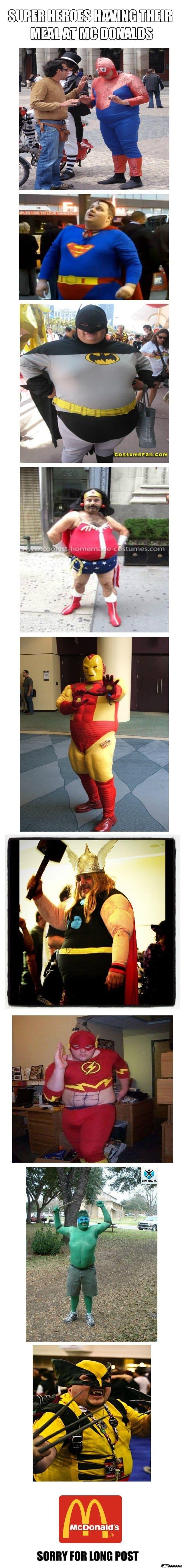 Funny - Fat Super Heroes