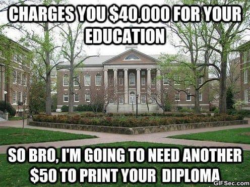 MEME - Scumbag College