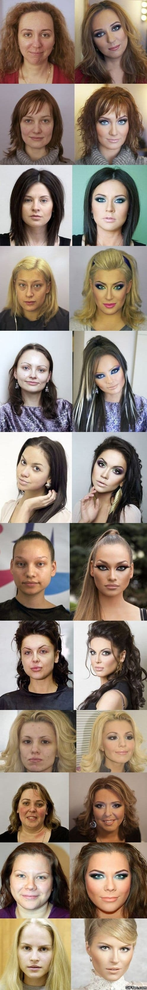 Funny - Russian Makeup - Before And After