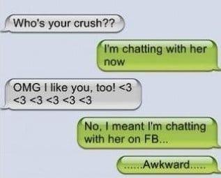 SMS - Awkward moment
