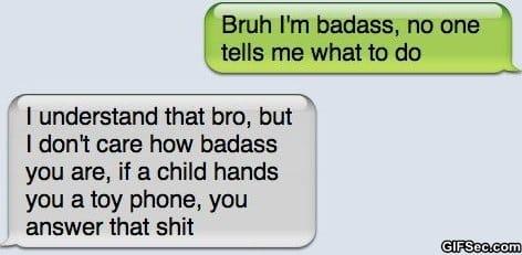 SMS - Im badass