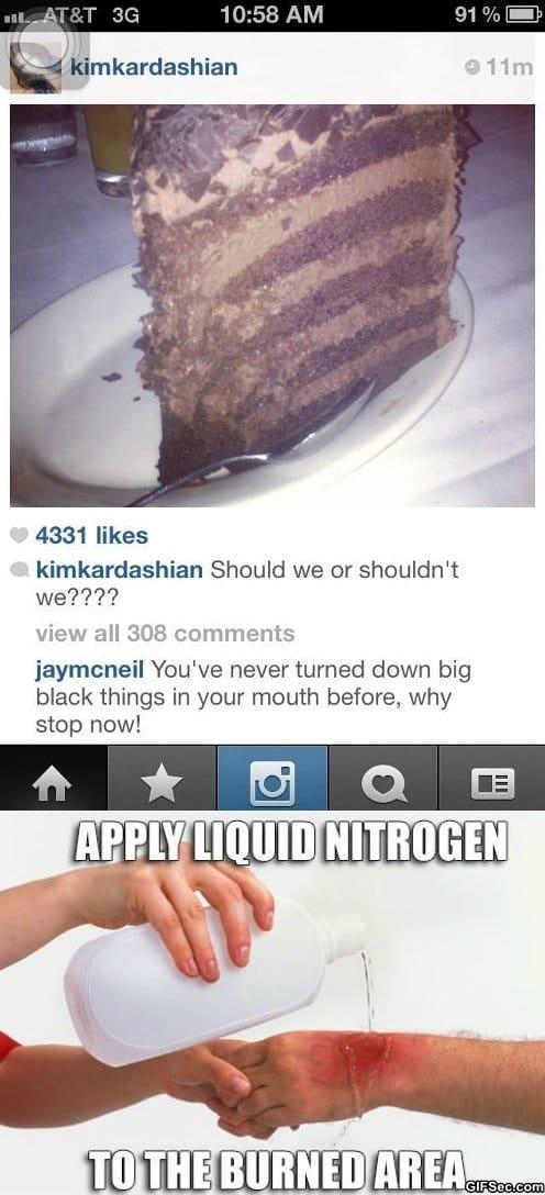 Kim Kardashian Burn