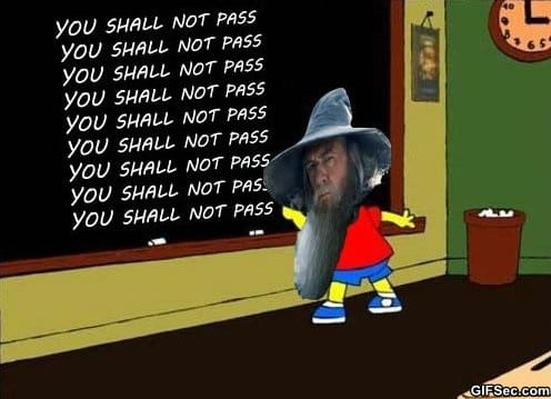MEME - You Shall Not Pass