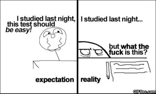 Expecation vs. Reality