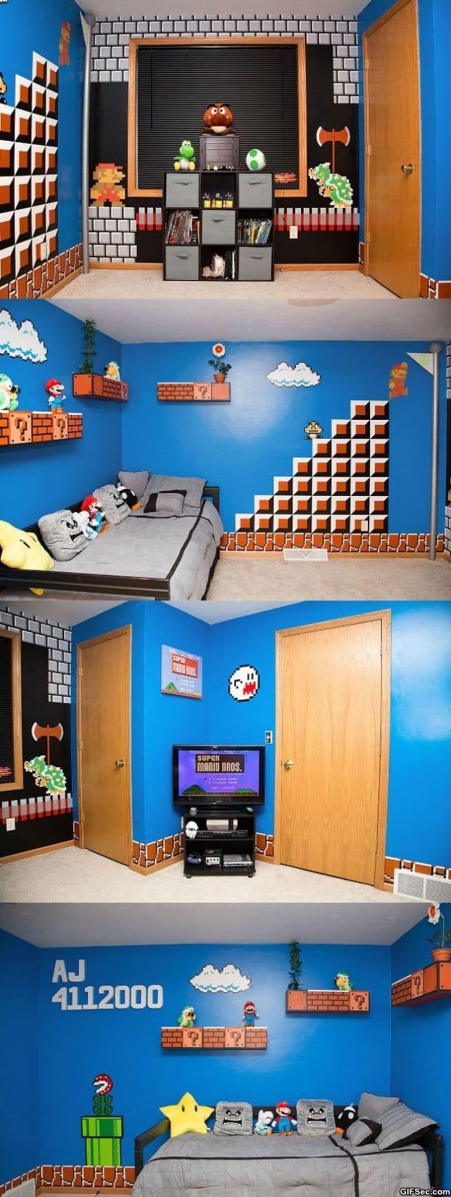 lol pics 2014 super mario themed room