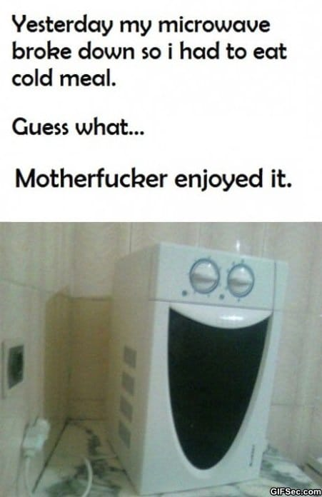 Funny microwave