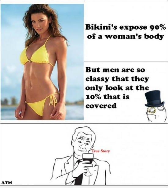What men look at