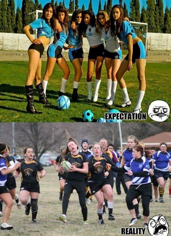 Women Football - expectation vs. reality