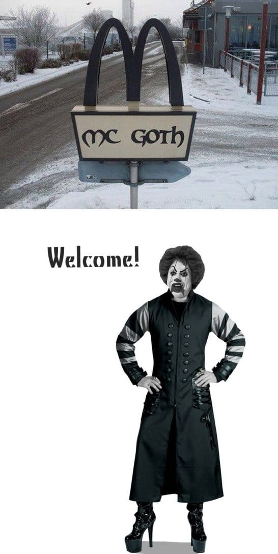 goth funny