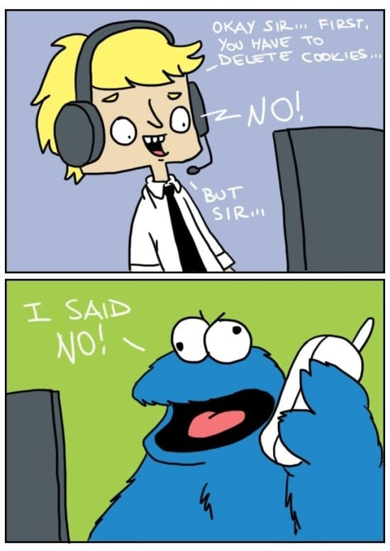 Tech Support vs. The Cookie Monster