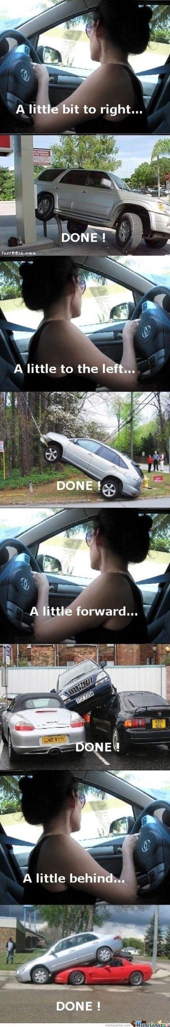 women-parking