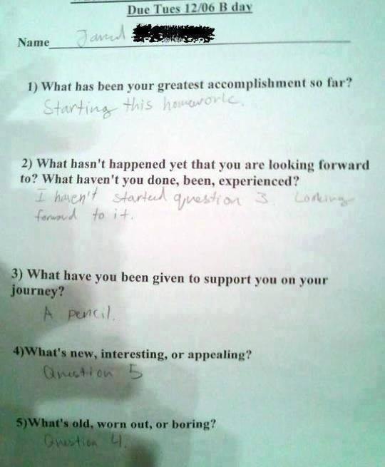 homework-funny