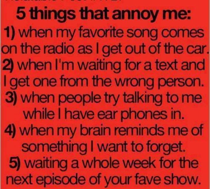 things-that-annoy-me