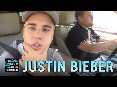 Video Justin Bieber Goes Carpooling With James Corden Again