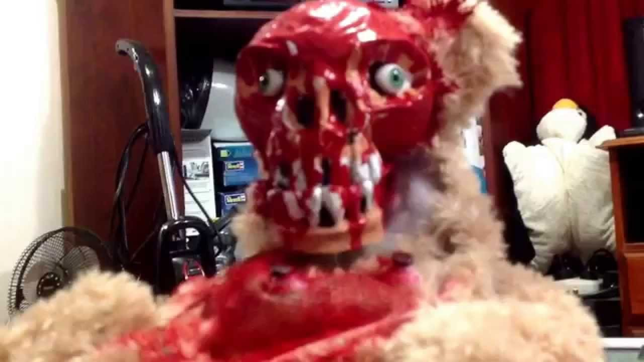 Peek A Boo Teddy Bear With Ripped Off Face Is From Your