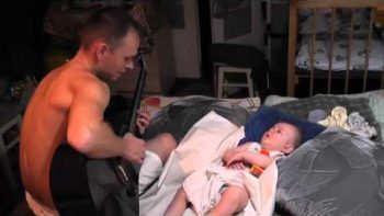 Baby Falls Asleep While Dad Plays Metallica's Nothing Else Matters On Guitar Lullaby