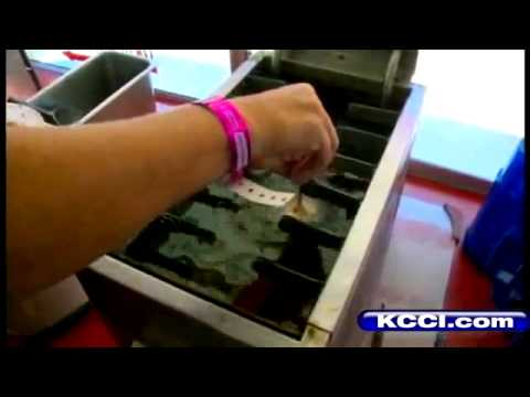 Fried stick of butter at iowa state fair viral viral videos for Iowa largest craft show