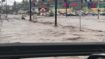 Flooded Streets of Downtown Pullman