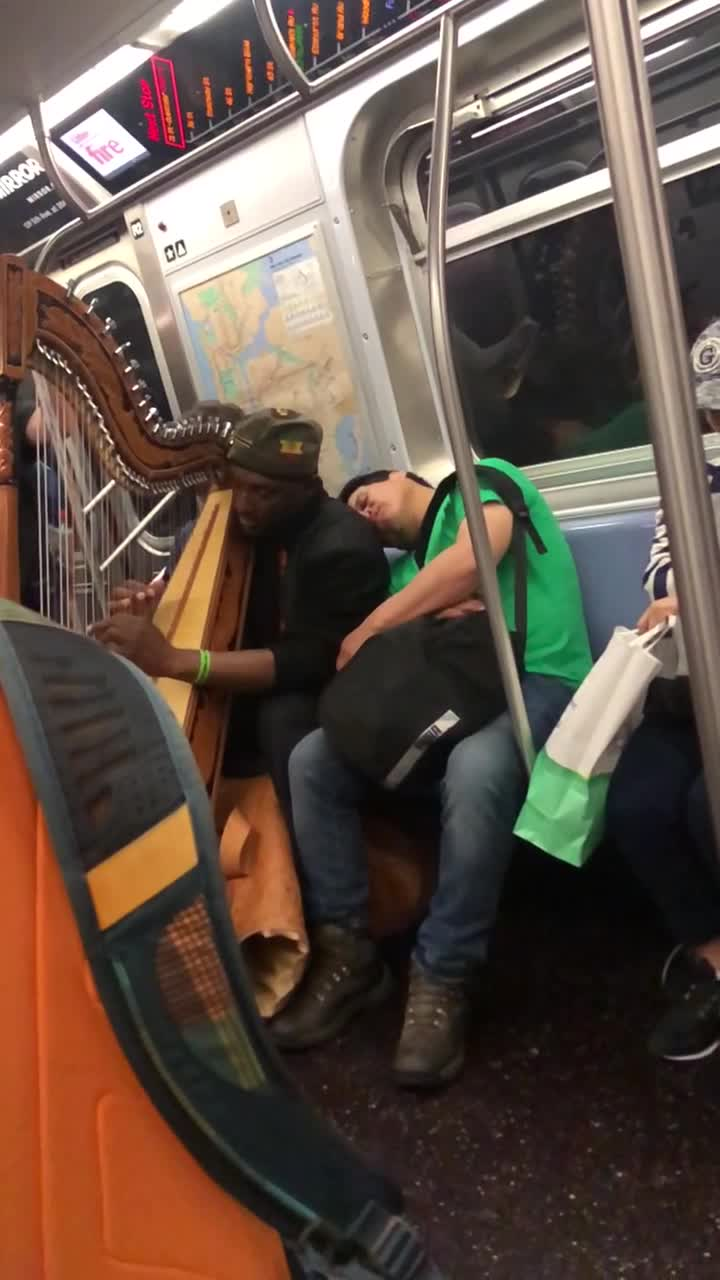 Man Naps Through Musical Morning Commute