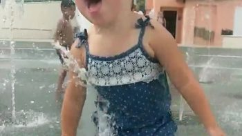 Slow Motion Splash Pad Wildness