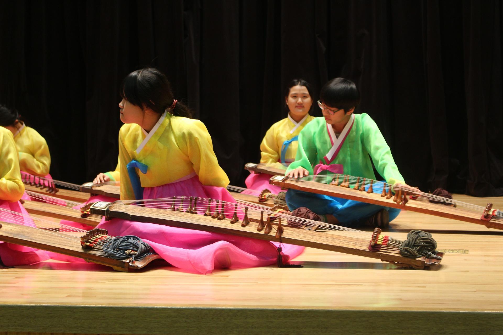korean hanbok being worn