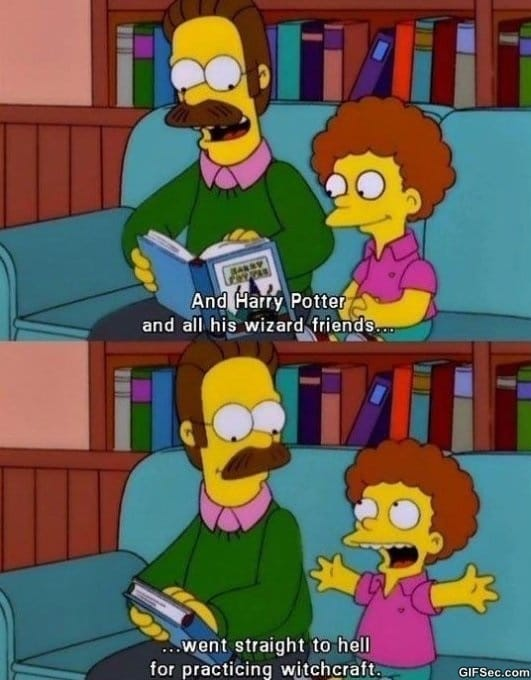 how-flanders-reads-harry-potter-funny-pictures