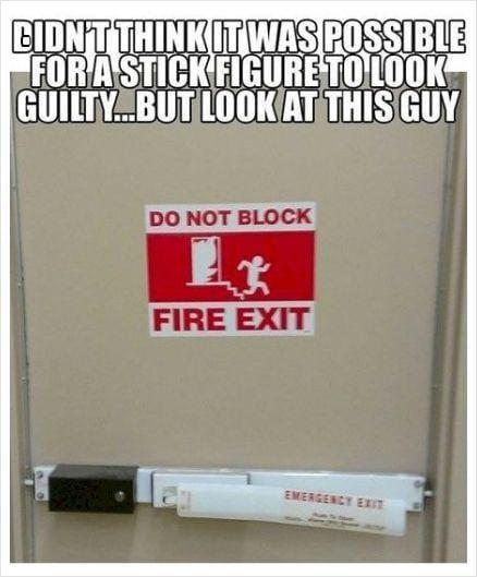 Guilty stick figure