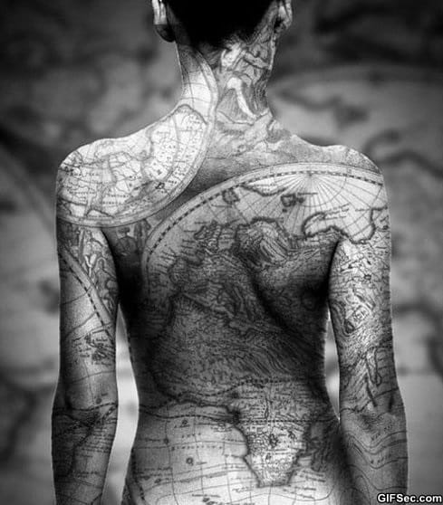 earth-map-tattoo