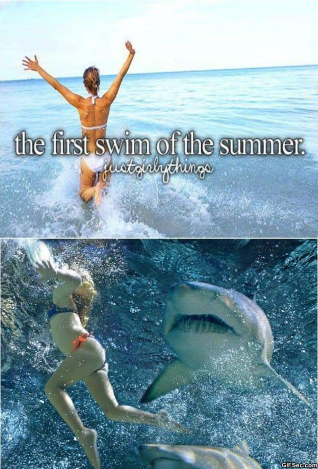 first-swim