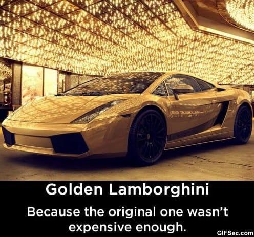 funny-golden-lamborghini