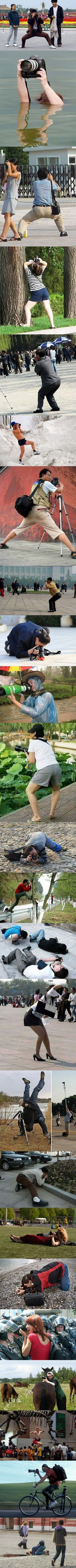 funny-the-many-poses-of-a-photographer