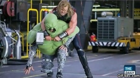How the Hulks fight scenes were filmed in the Avengers meme lol humor funny pictures funny photos funny