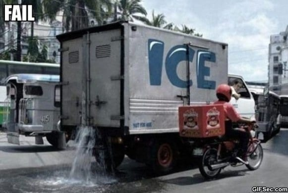 Ice Truck Fail meme lol humor funny pictures funny photos funny