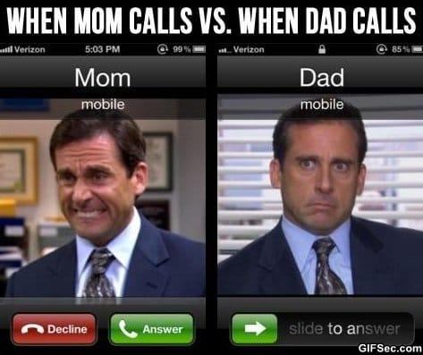 Mom vs dad essay