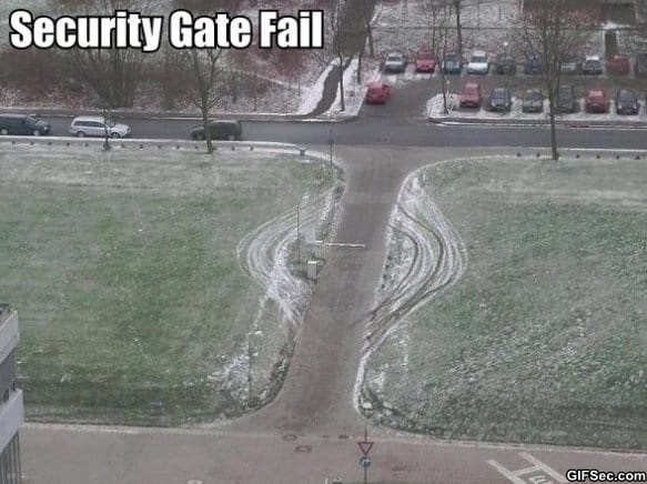 Security Gate Fail meme lol humor funny pictures funny photos funny