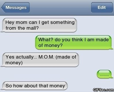 text-message-made-of-money