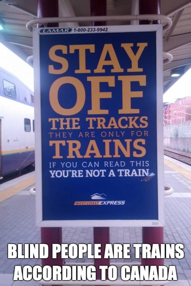 funny trains signs