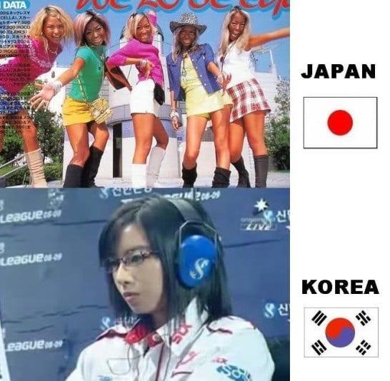 best-meme-girls-japan-vs-korea