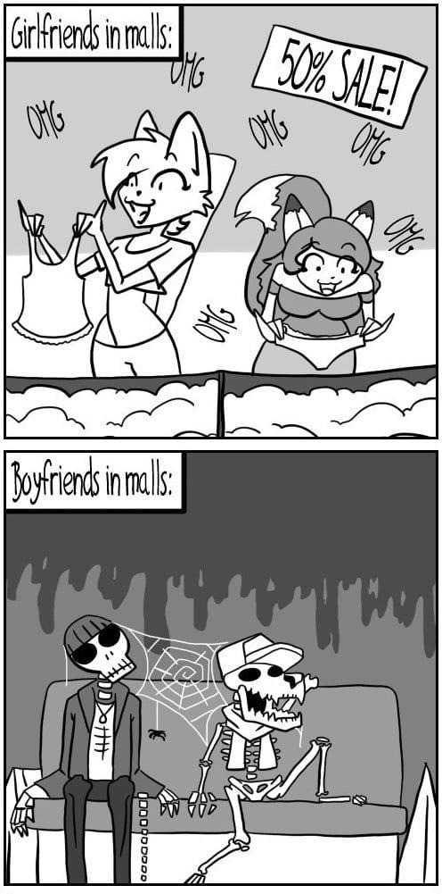 funny-girlfriends-in-malls-vs-boyfriends-in-malls-meme-jokes