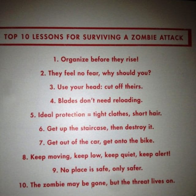 funny-pics-2014-top-10-lessons-for-surviving-a-zombie-attack