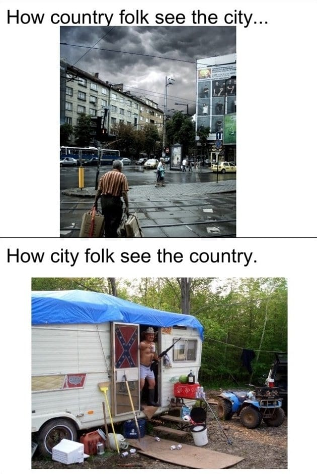 Differences Between City & Country Life