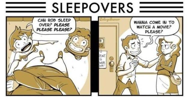 lol-pics-2014-then-vs-now-sleepovers