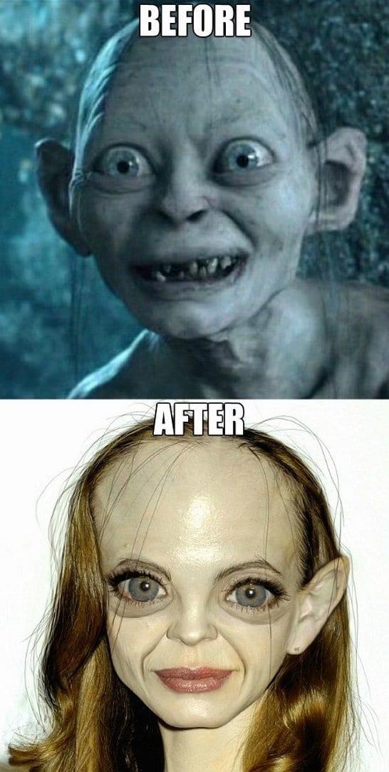 meme-2014-even-gollum-looks-better-with-makeup