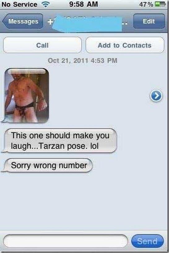 Funny Meme For Wrong Number : Tarzan pose