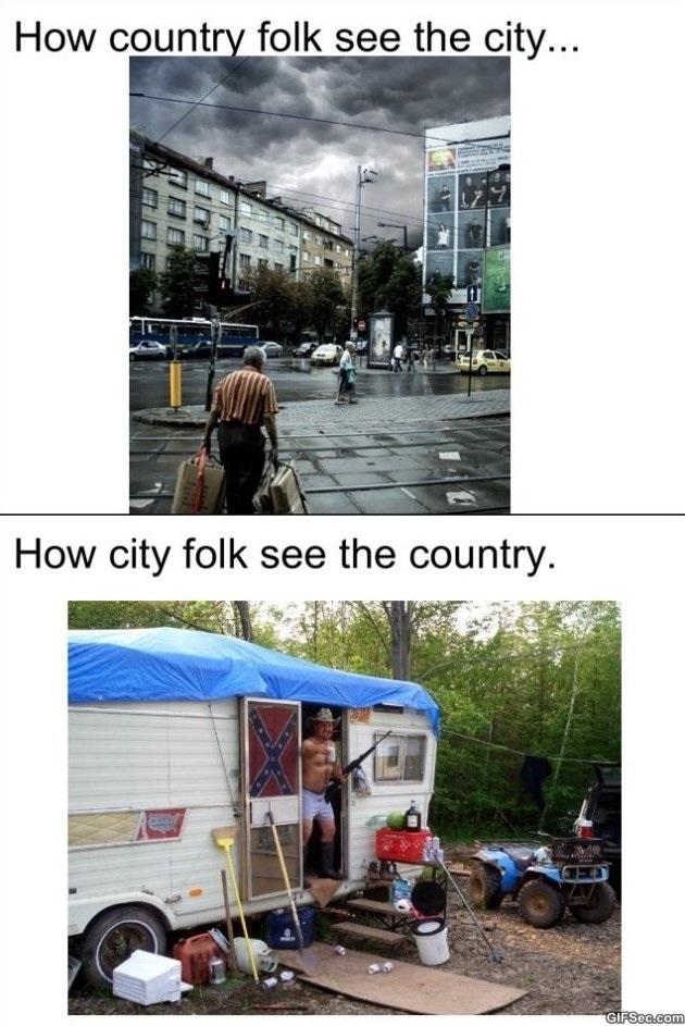 City vs. Country MEME