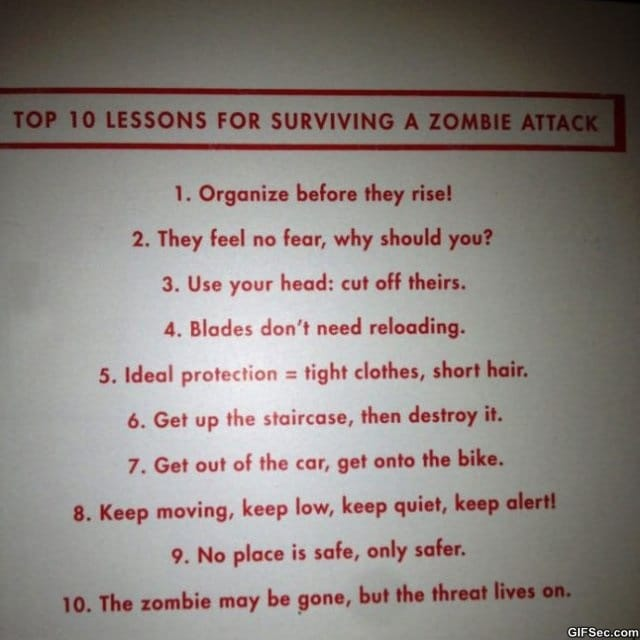 top-10-lessons-for-surviving-a-zombie-attack-meme