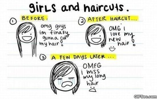 Girls and Haircuts MEME